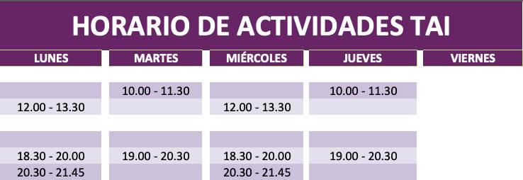 Nuevos horarios curso 2019 – 2020